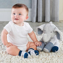 Load image into Gallery viewer, Louie the Elephant Plush Plus Socks for Baby