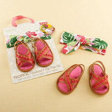 Load image into Gallery viewer, Tropical Headband & Flip Flop Gift Set