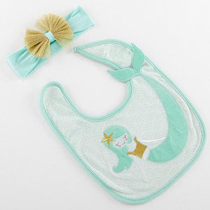 Simply Enchanted Mermaid Bib & Headband Set