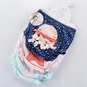 Under The Sea 3-Piece Diaper Cover Gift Set - Girl