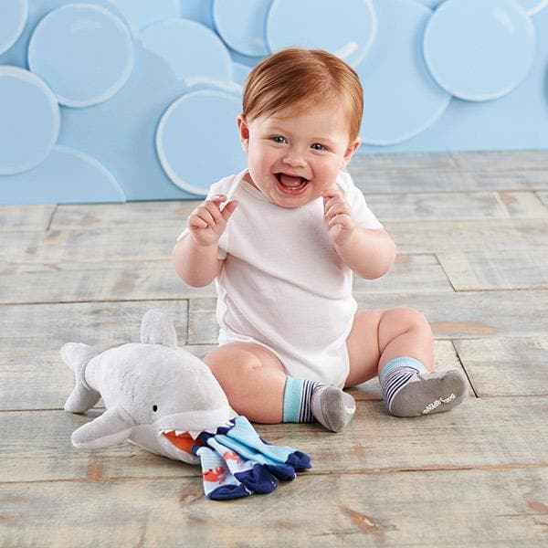 Sherman the Shark Plush Plus Socks for Baby