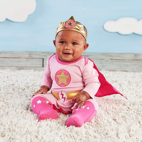 Big Dreamzzz Baby Superhero 2-Piece Layette Set - Girl (Personalization Available)