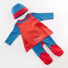Load image into Gallery viewer, Big Dreamzzz Baby Superhero 2-Piece Layette Set - Boy (Personalization Available)