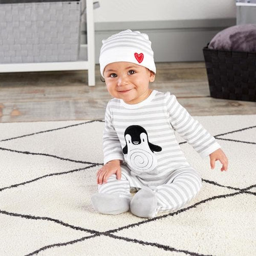 Penguin Pajama 2-Piece Layette Set