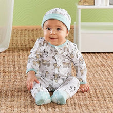 Load image into Gallery viewer, Safari Pajama Gift Set (Blue)