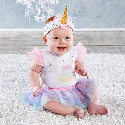 My First Unicorn Outfit with Headband (0-6 Months)
