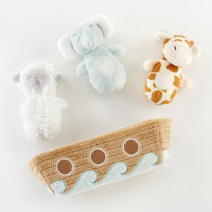 Noah's Ark 4-Piece Rattle Gift Set