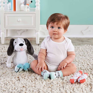 Parker the Puppy Plush Plus Socks for Baby
