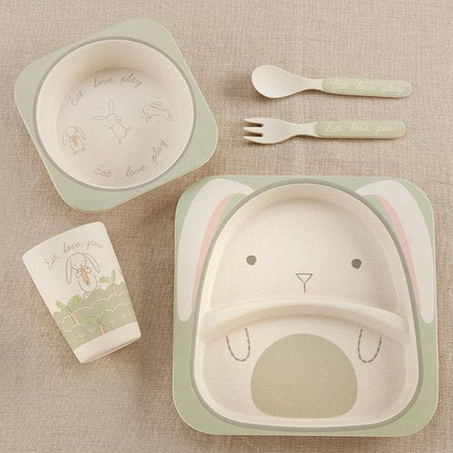 Natural Baby Bamboo Bunny 5-Piece Feeding Set