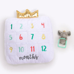 My First Milestone Baby Age Decorative Pillow