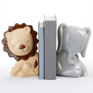 Safari Porcelain Bookends