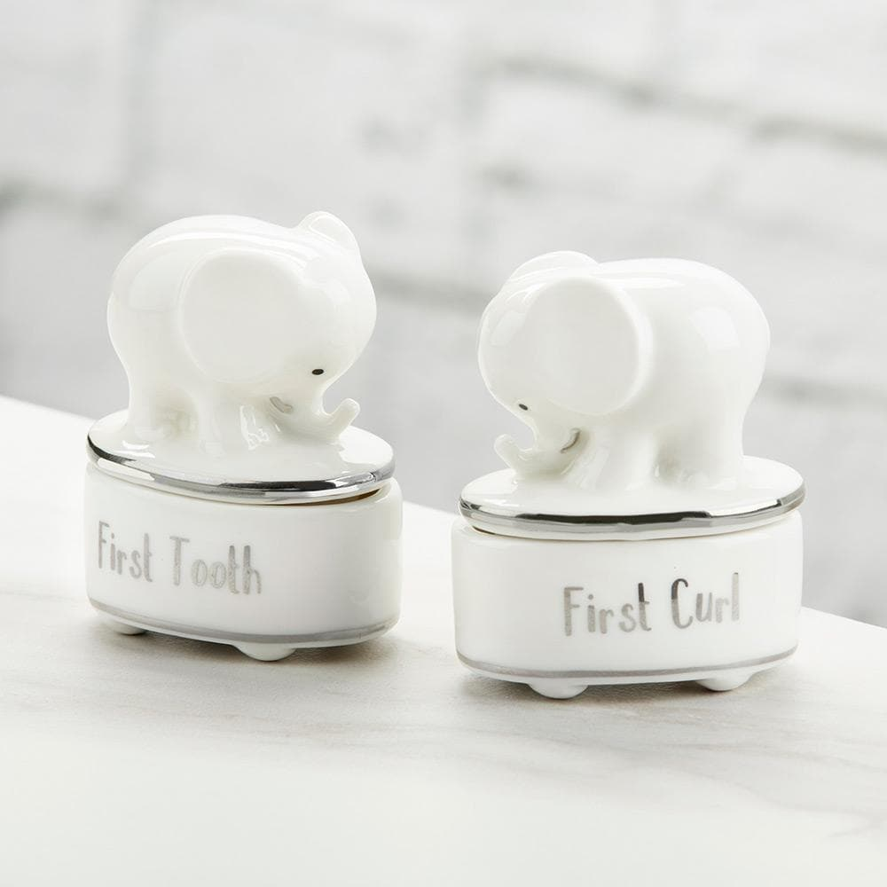 Little Peanut Ceramic Tooth & Curl Keepsake Set