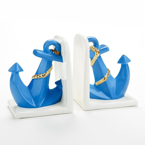 Anchor Porcelain Bookends