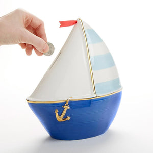 Sailboat Porcelain Bank