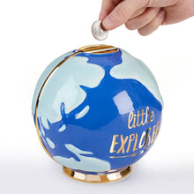 Load image into Gallery viewer, Little Explorer Globe Porcelain Bank