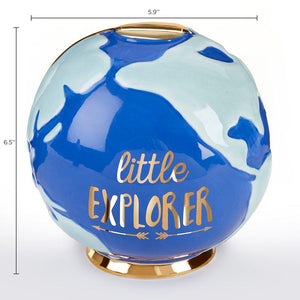 Little Explorer Globe Porcelain Bank