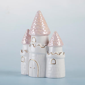 Simply Enchanted Small Castle Porcelain Bank