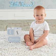 Load image into Gallery viewer, My First Milestone Little Prince Baby Age Blocks