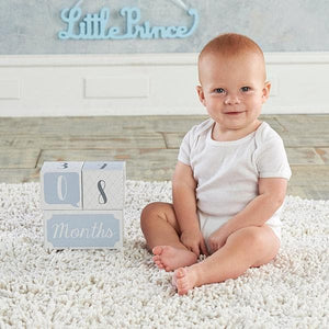 My First Milestone Little Prince Baby Age Blocks