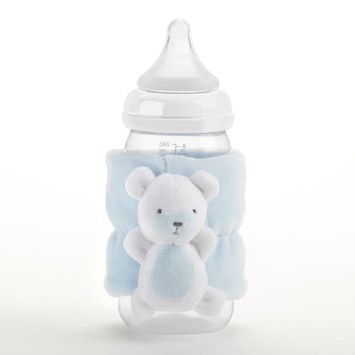 Teddy Bear Bottle Buddy (Blue)