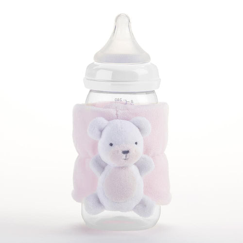 Teddy Bear Bottle Buddy (Pink)