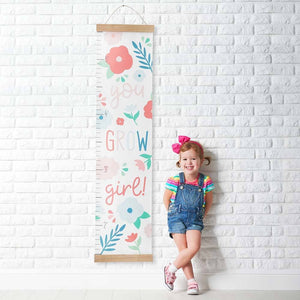 You Grow Girl Hanging Growth Chart
