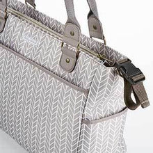 Load image into Gallery viewer, Baby Aspen 360 Signature Diaper Bag - Gray Chevron