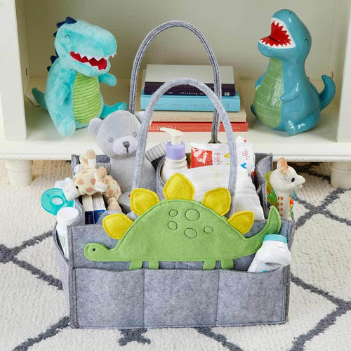 Dinosaur Diaper Caddy Organizer (Personalization Available)