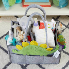 Load image into Gallery viewer, Dinosaur Diaper Caddy Organizer (Personalization Available)