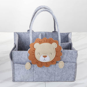 Lion Diaper Caddy Organizer (Personalization Available)