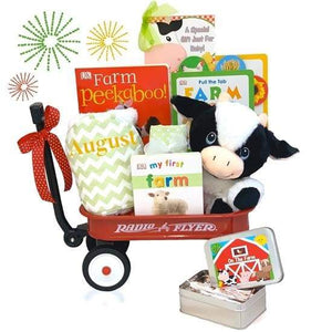 Personalized Farm Day Radio Flyer Wagon Gift Basket