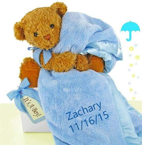 Personalized Bear Essentials Gift Set (Blue or Pink)
