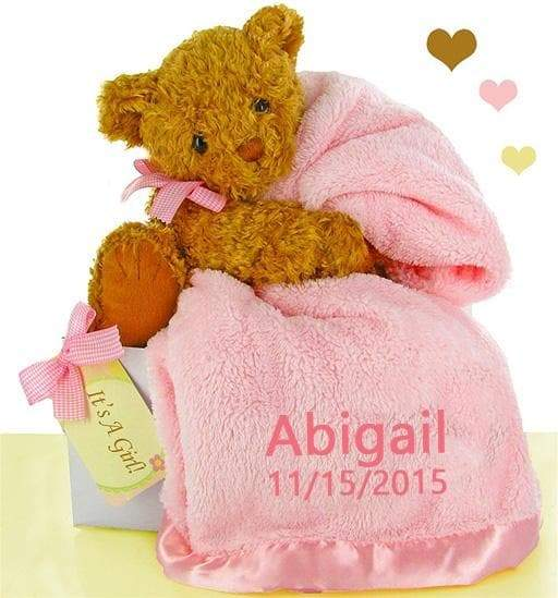 Personalized Bear Essentials Gift Set (Multiple Colors Available)