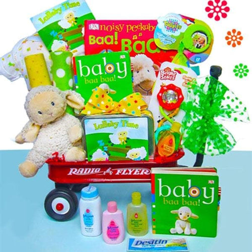 Baby Lullaby Radio Flyer Wagon Gift Basket