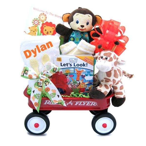 Personalized Wild Wilderness Radio Flyer Wagon Gift Basket