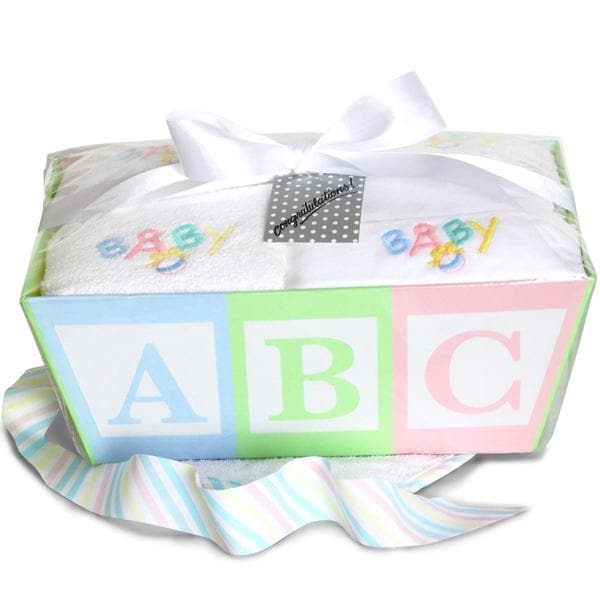 Newborn Baby Layette ABC Gift Basket