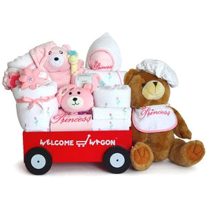 Super Deluxe Bear Baby Girl Welcome Wagon