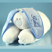 Load image into Gallery viewer, Personalized Snuggle Bunny Baby Blanket Gift Set