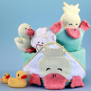 Ducky Hooded Towel Bath Time Gift Basket