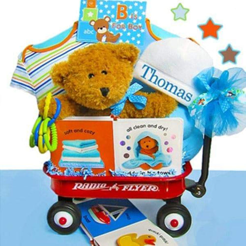 Personalized B is for Boy Radio Flyer Wagon Gift Basket