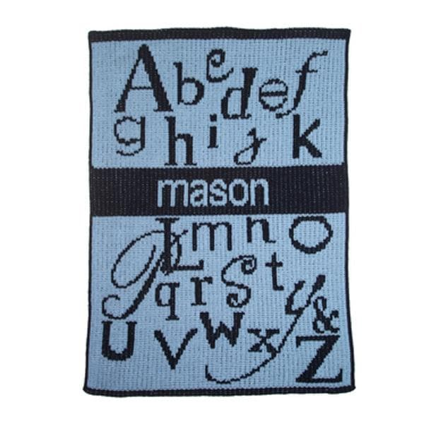 Personalized ABC'S Stroller Blanket (Many Colors Available)