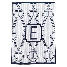 Load image into Gallery viewer, Personalized Anchors & Ropes Stroller Blanket (Many Colors Available)