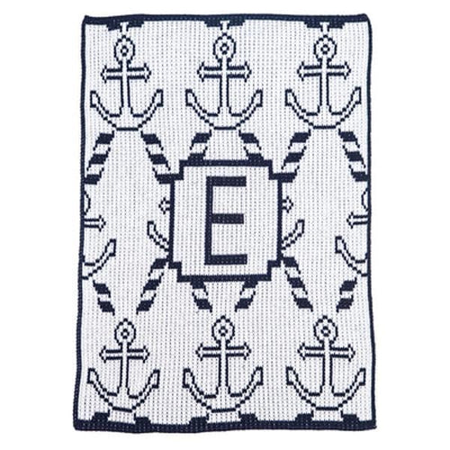 Personalized Anchors & Ropes Stroller Blanket (Many Colors Available)