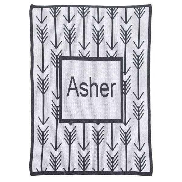 Personalized Arrows Stroller Blanket (Many Colors Available)