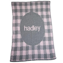 Load image into Gallery viewer, Personalized Gingham Stroller Blanket (Many Colors Available)