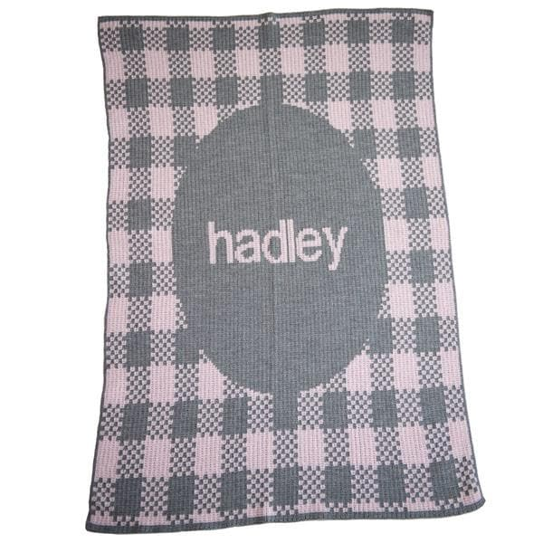 Personalized Gingham Stroller Blanket (Many Colors Available)
