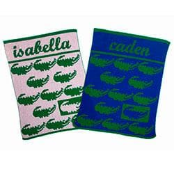 Personalized The Preppy Gator Stroller Blanket (Many Colors Available)