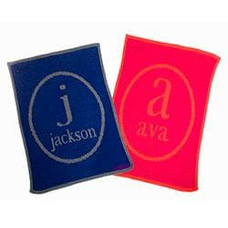 Personalized Regent Name & Initial Stroller Blanket (Many Colors Available)