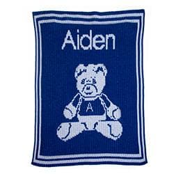 Personalized Teddy Bear Stroller Blanket (Many Colors Available)