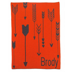 Personalized Tribal Arrows Stroller Blanket (Many Colors Available)